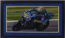 VALENTINO Rossi Firmato a Mano YAMAHA MOTOGP incorniciato prova fotografica di visualizzazione 10.