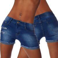 4941 Sexy Demin-Stoff Hotpants Short kurze Hose Hot Pants Shorts Panty jeans