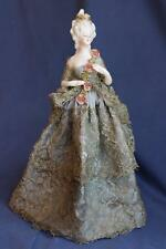 Antique Half Doll Pin Cushion Doll Arms Away from Body
