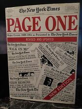PAGE ONE THE NEW YORK TIMES 1984 ARTBOOK by PN