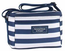 Cool Bag Navigate Summerhouse 73613 Coolbag Navy White Stripes Coastal 4L Litre