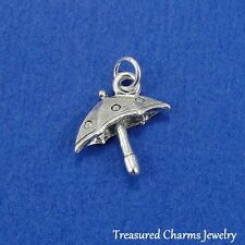 Silver UMBRELLA Rainy Day Weather Storm CHARM PENDANT