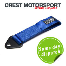 TRS Fixed Tow Eye Strap/Loop BLUE (MSA Compliant) Race/Rally/Competition Car