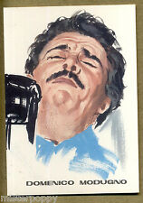 DOMENICO MODUGNO PC 1966 Cartolina Beat Pop Star Illustratore PICCHIONI