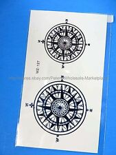 *US SELLER*compass Tattoo Temporary Skin Sticker lower back tattoos girls