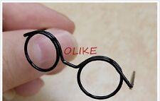 Black glasses frames Prop Toy for 1/8 1/12 BJD LATI W.AZONE Doll 10-12cm Head