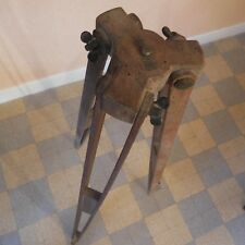 Pied photographe bois métal vintage XIXe art nouveau fait main France
