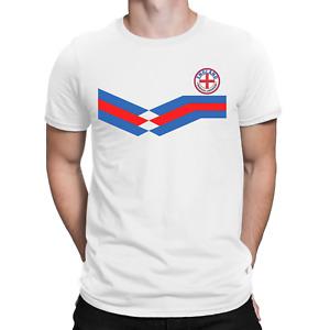 ENGLAND Mens ORGANIC Cotton T-Shirt Retro Football English Tee