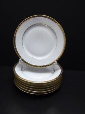"Tiffany & Co. Limoges GOLD BAND D'OR Bread & Butter Plates 6 1/2"" / Set of 7"