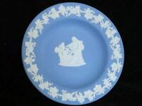 WEDGWOOD BLUE JASPER TRINKET DISH CUPID AS ORACLE SMALL PLATE