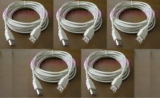 5 Lot - 15Ft PREMIUM USB 2.0 Male to Female Extension Shielded Cable Ivory 15'Ft