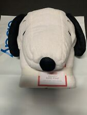 Pottery Barn Kids Peanuts SNOOPY Dog Bath Wrap Hooded TOWEL Bathroom NEW