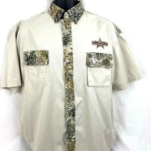 Vintage Dallas Cowboys Short Sleeve Button Up Camo Shirt Size M/LG Embroidered