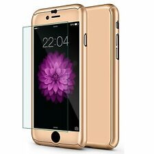 360° Full Body Ultra Thin Hard Case Cover+Tempered Glass Screen for iPhone 6/6s