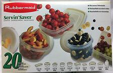 Rubbermaid Servin' Saver Vintage 1996 20 Pieces Container Set JB1-8218-U2 ALMOND