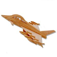 "3-D Wooden Puzzle - Plane Model Euro Fighter Typhoon Gift Item ""Brand New"""