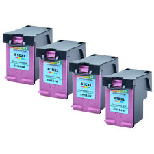 4PK Reman. Ink Cartridge For HP 61XL Color CH564WN Deskjet 2050 2540 3000 3050