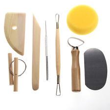8 Pcs Pottery Tool Set Clay Ceramics Molding Needle Cutter Loop Ribbon Tool #Cu3