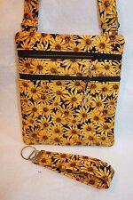 Black-Eyed Susan (Maryland State Flower) Cross body Handbag w/Adj strap