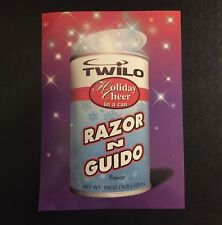 Rare Vintage 1998 NYC Club Flyer: RAZOR & GUIDO @ TWILO NYC