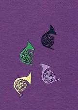 FRENCH HORN die cuts scrapbook cards