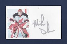 Mike Dunham signed New Jersey Devils hockey index card
