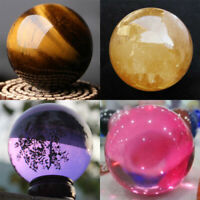 40MM Rare Natural Quartz Crystal Ball Gemstone Sphere Mineral Rock Healing Stone