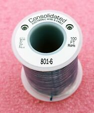 Solid Core BLUE Wire 22 Gauge 100ft Spool  (JW100BE)