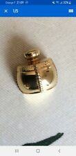 "BROCHE YSL  - PIN - Yves Saint Laurent - flacon ""champagne"" - doré à l'or fin"