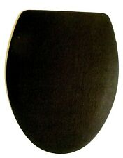 BLACK FLEECE ELONGATED TOILET SEAT LID COVER