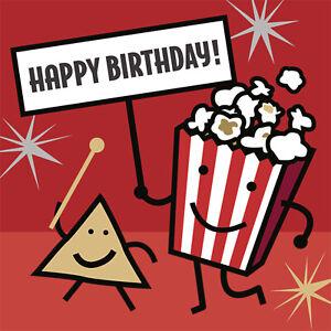 Its Movie Night Happy Birthday Lunch Napkins 16pk