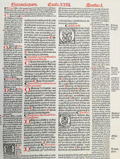 Decorative Post Incunable Leaf Law Gratian Decretum  Large Folio (267) - 1510