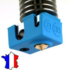 Chaussette isolante silicone pour extrudeur E3DV6 - E3D v6  Blue Silicone Sock