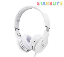 Goji GTONWHT14 Wired On-ear Headphones with in-line Volume/Mic Control - White