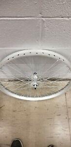 Heavy Duty Front Wheel 26 x 2.5, Wide rim, 48 Hole, 12 Gauge spokes (Pedicab)