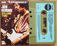 "JIMI HENDRIX - MORE ""EXPERIENCE"" (EMBER ZCE5061) 1972 UK CASSETTE TAPE EX!"