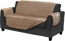 Serta Microsuede Electric Warming Furniture Protector Easy Care Loveseat