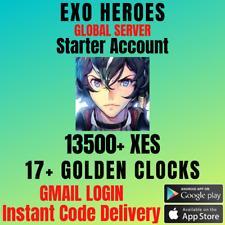 Exos Heroes Starter Account With 13K+ Xes 17+ Golden Clocks + Selective Summon