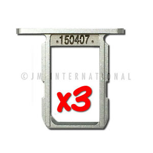 Lot of 3 White SIM Holder SIM Card Tray For Galaxy S6 SM-G920 Replacement Part