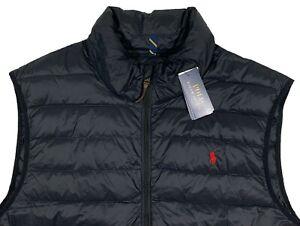 Men's POLO RALPH LAUREN Black Full Zip Quilted DOWN+ Vest 3XB 3X 3XL BIG NWT NEW