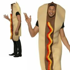 Giant Hot Dog Costume Food and Drink Funny Stag Fancy Dress Adult Outfit
