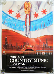 1991 Chicago Country Music Festival on Weed Street Poster [20x28]