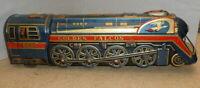 Vintage Trade Mark Modern Toys Gold Falcon Tin Metal Battery Operate Train