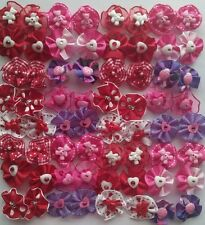 40 pcs mix St.Valentine Rubber band hair bows for dog cat grooming handmade