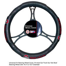 NCAA Ohio State Buckeyes Synthetic Leather Extra Grip Steering Wheel Cover