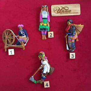 Thai hill tribe tribal ethnic decorative collectibles hand painted figure resin