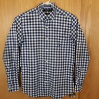 Nautica Mens Size M Button Down Long Sleeve Plaid Checks Dress Shirt