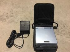 NINTENDO GAMEBOY ADVANCE SP SYSTEM LIGHT PEARL BLUE 101 WITH CHARGE NES HQ