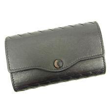 Bottega Veneta Key holder Key case Intrecciato Black Woman Authentic Used A1292