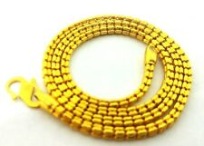 """Solid 22K 916 Yellow Gold Necklace box link 16"""" long new"""